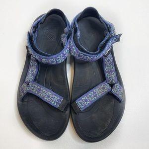 Teva Treck Sandals Blue and Black 339
